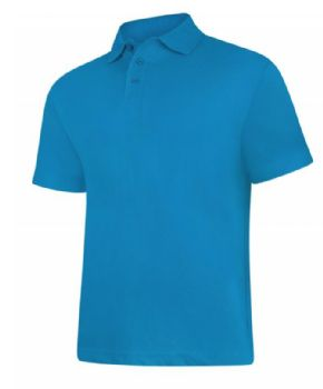 Personalised Embroidered Polo .Shirt Sapphire Blue SALE
